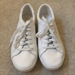 Keds white leather sneakers